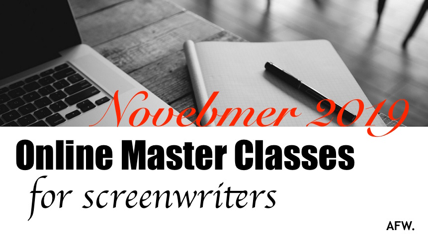 Online Master Screenwriting Classes, November 2019