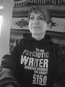Debi Yazbeck in her PsycHot 5150 sweat shirt.