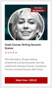 Crash Course: Writing Dynamic Scenes - A Stage 32 Next Level Webinar with Max Adams